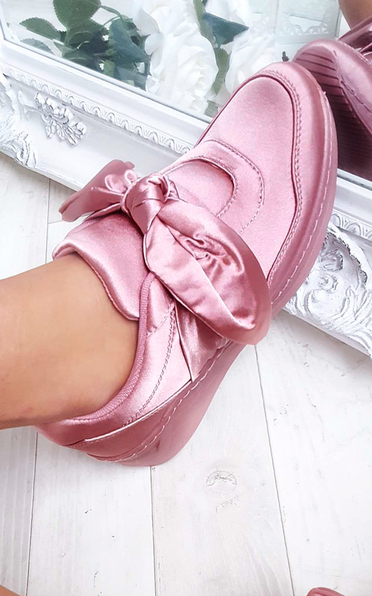 Robyn Satin Bow Trainers