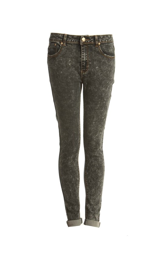 Justine Grey High-Waisted Skinny Jeans