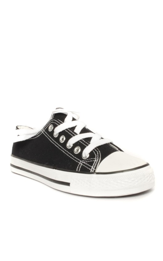 Connies Black and White Canvas Shoes