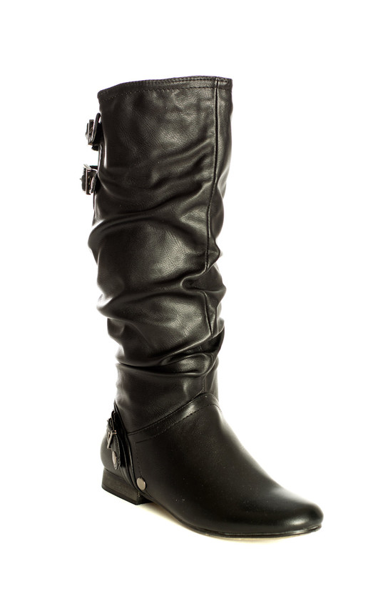 Jayme Ruched Knee High Boots