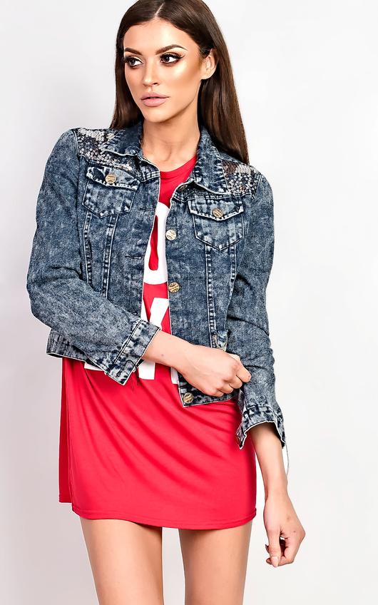 Sonya Distressed Denim Jacket