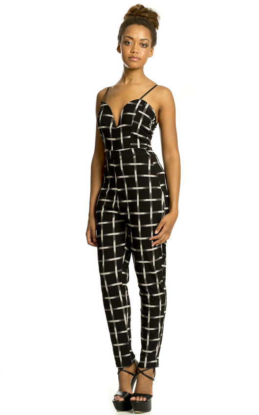 Rae Checked Jumpsuit