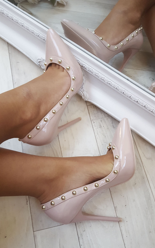 Lala Studded Court Heels