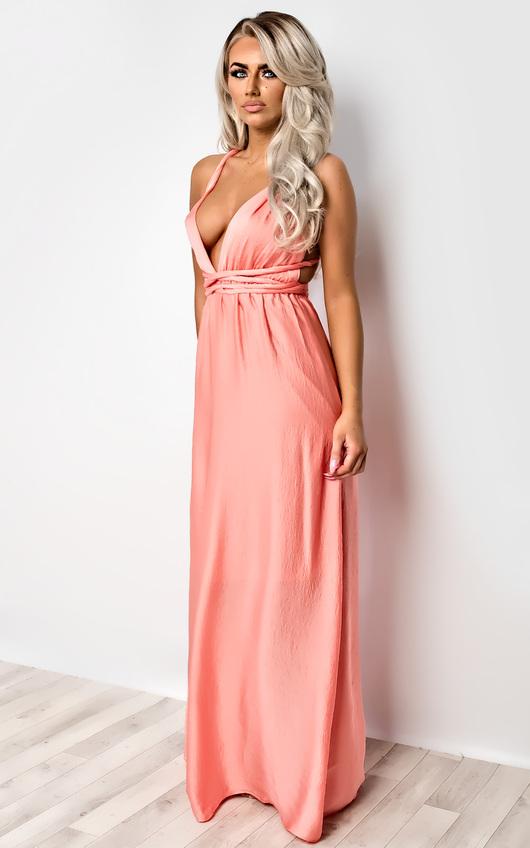 ebd1e4a8aff Zavia Multi-Way Maxi Dress in Coral