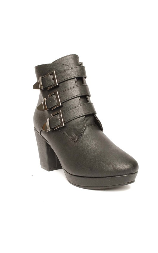 Faith Block Heel Buckle Boots