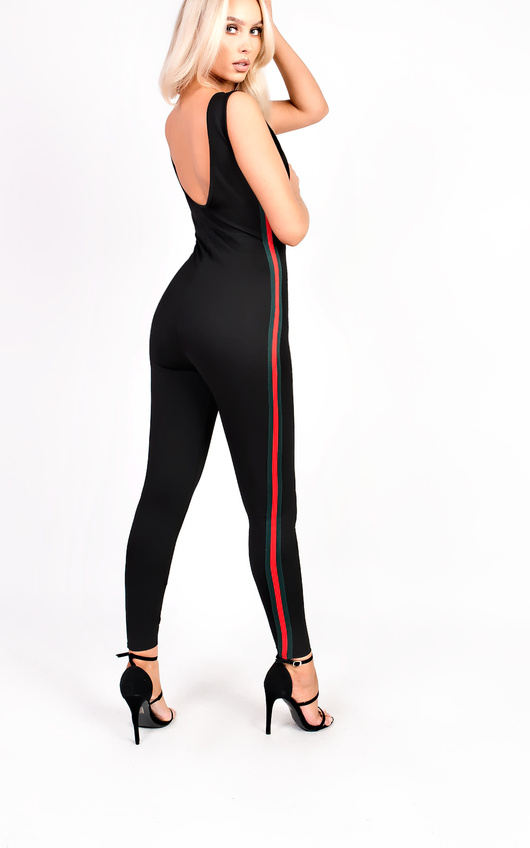 Tasha Stripe Stretch Jumpsuit
