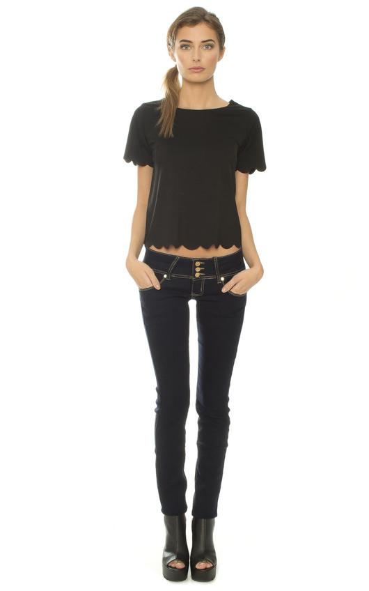 Kris Denim Skinny Jeans with Pocket Detail