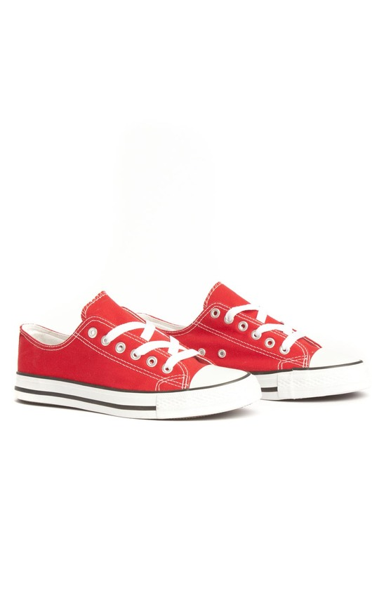 Connies  Red and White Canvas Shoes