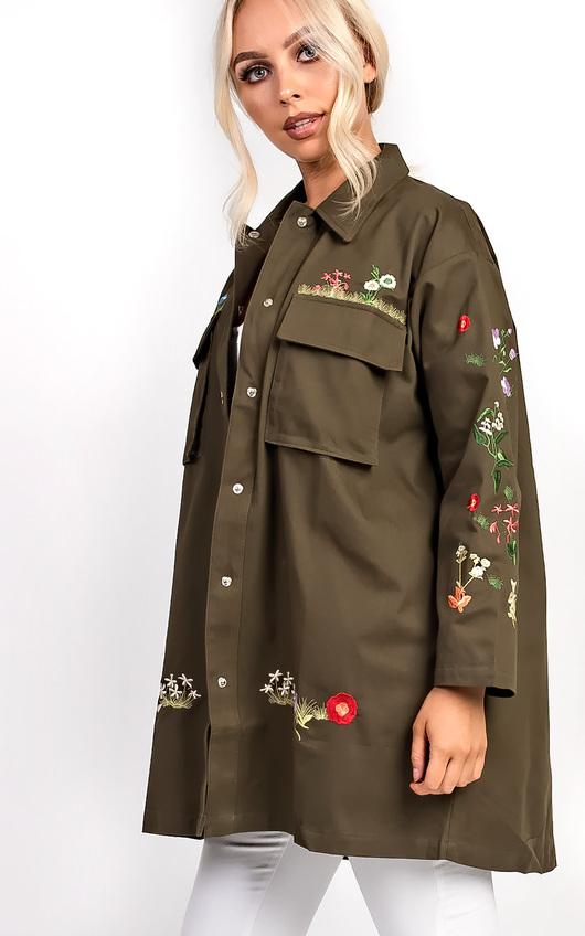 Haven Khaki Floral Jacket