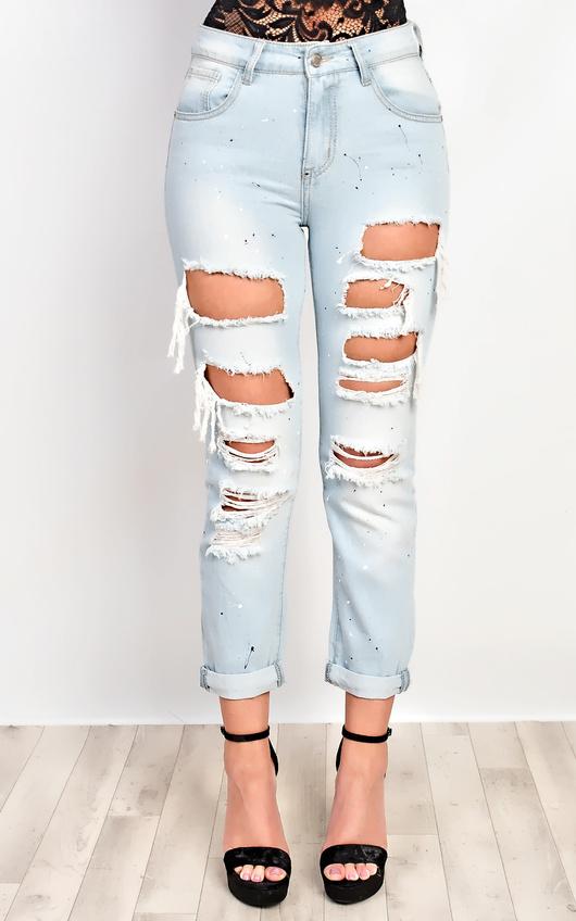 Dunn Ripped Paint Splatter Jeans