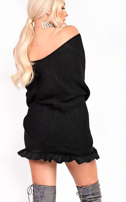 Shari Faux Suede Frill Skirt