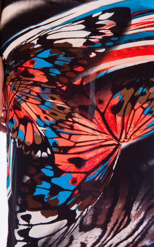 Hazel Butterfly Print Midi Skirt