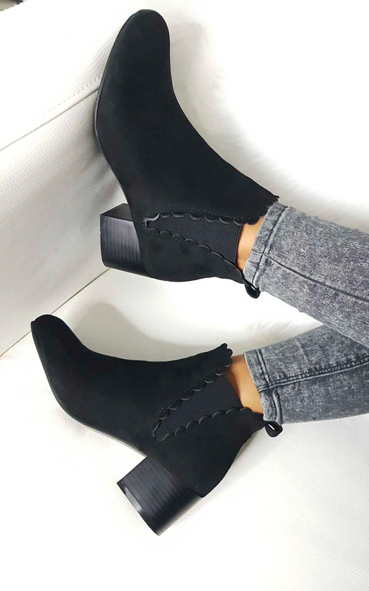 Alisa Faux Suede Ankle Boots
