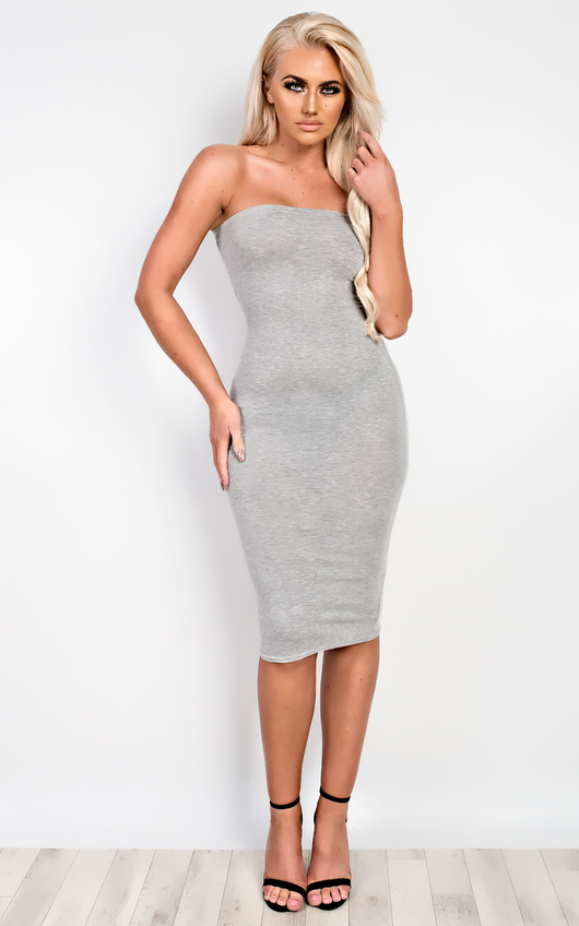 Jolana Bandeau Basic Bodycon Dress