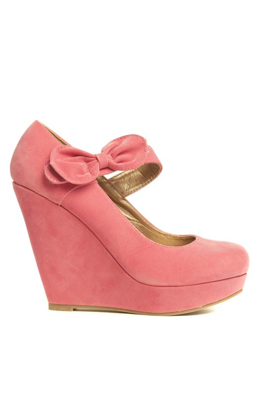 Dorothy Suede Bow Wedges