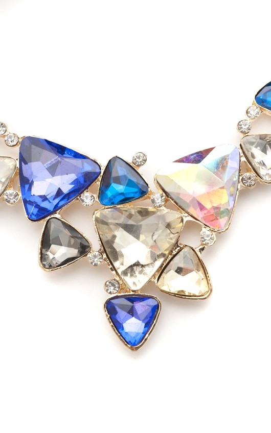Corin Blue Triangle Gem Necklace