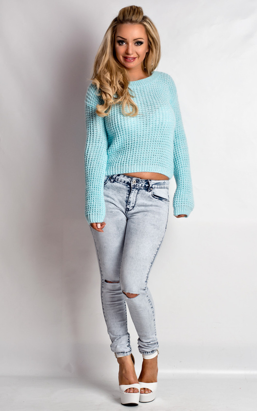 Kimmy Acid Wash Ripped Skinny Style Jeans
