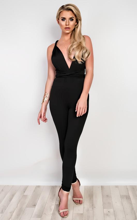 14840f56310 Sahar Multi-Way Jumpsuit in Black