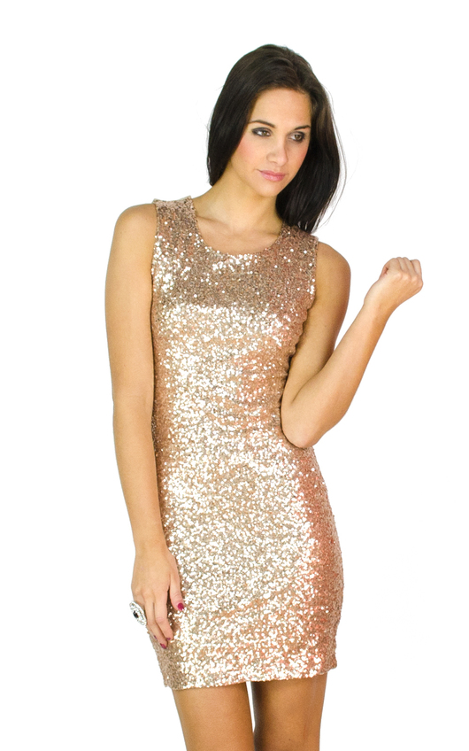 Simone Backless Sequin Dress