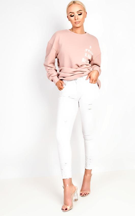 Sariah Low Rise Ripped Skinny Jeans