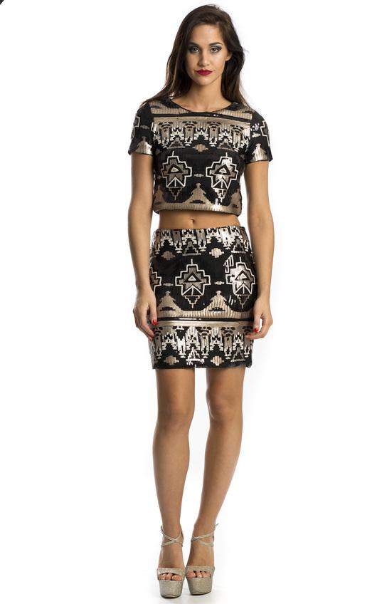 Maisie Sequin Mini Skirt
