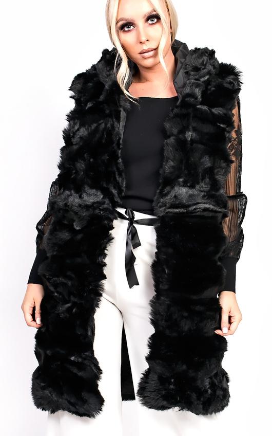 Karla Faux Fur Hooded Waistcoat