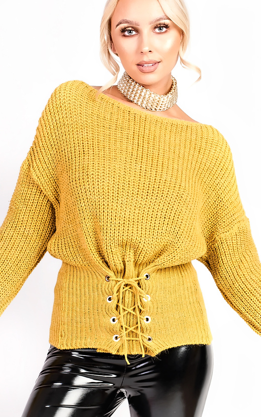 Alesha Knitted Tie Jumper