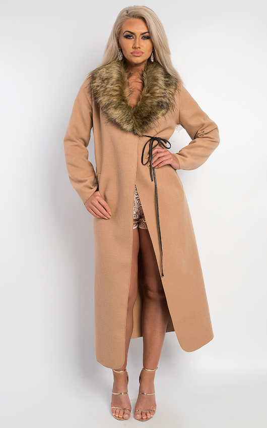 Jude Faux Fur Collar Coat