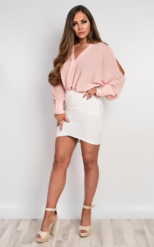 Lila Chiffon Bodysuit