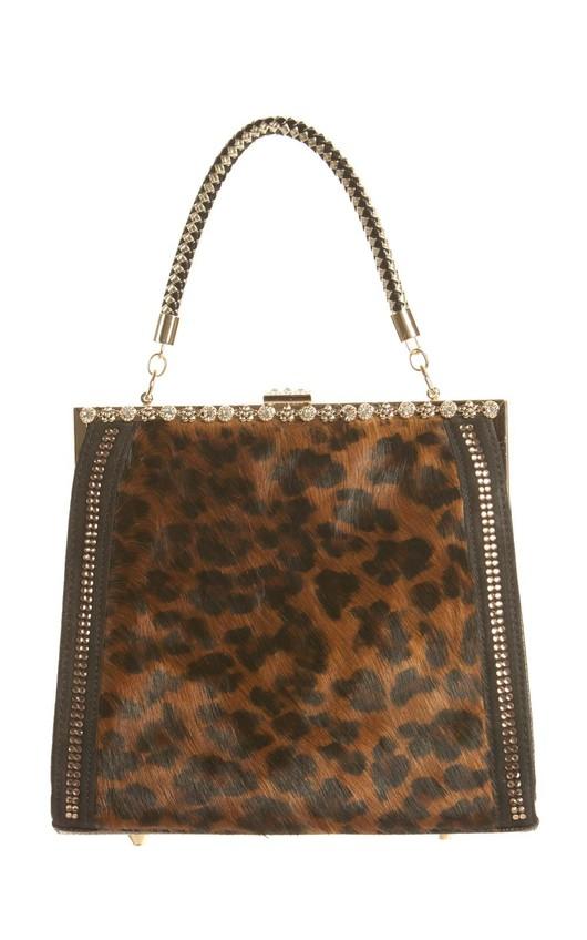 Reeve  Emebellished Fur Effect Handbag
