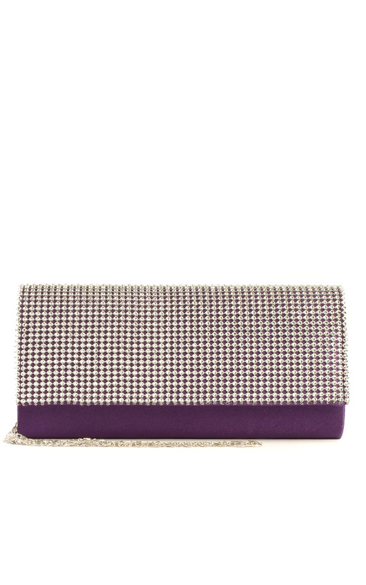 Mirren Diamanté Stud Clutch Bag