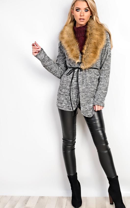Hallie Faux Fur Cardigan