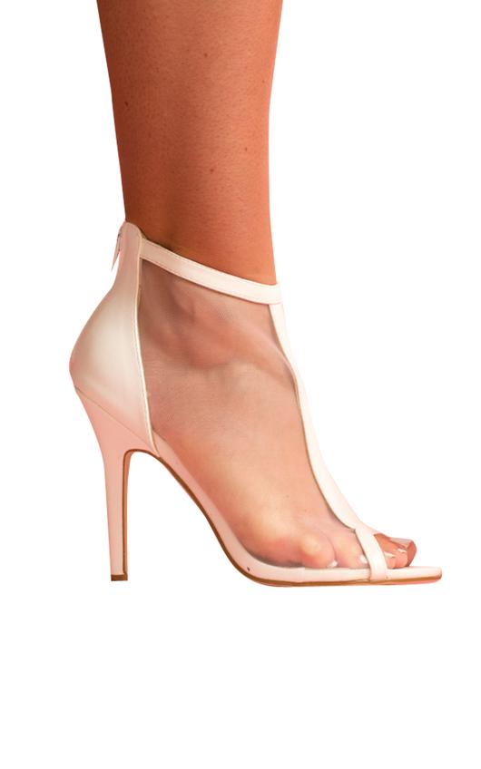 IKRUSH Women's OSHA Mesh Stiletto Heels Size in White Size 6 mbvOIkFfom