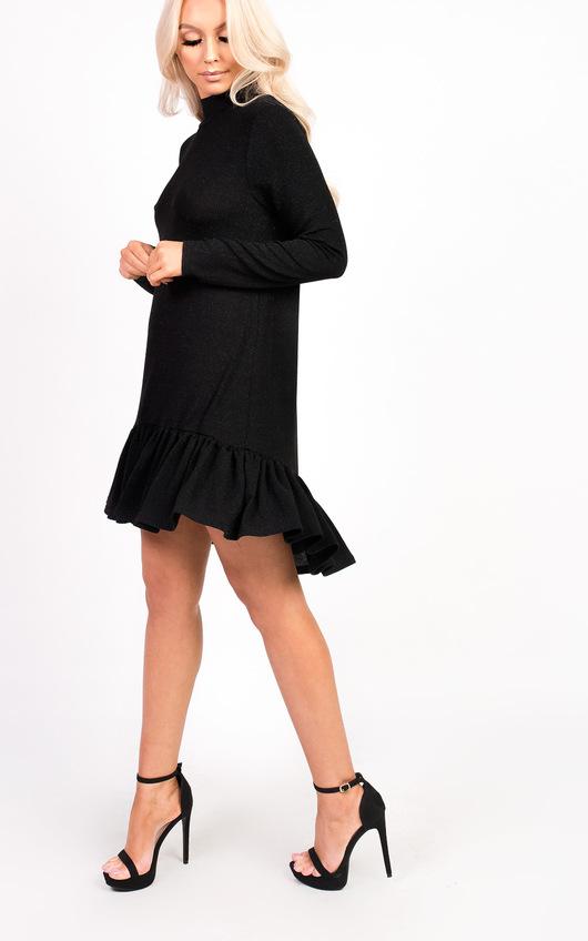 Emma Glitter Peplum Dress