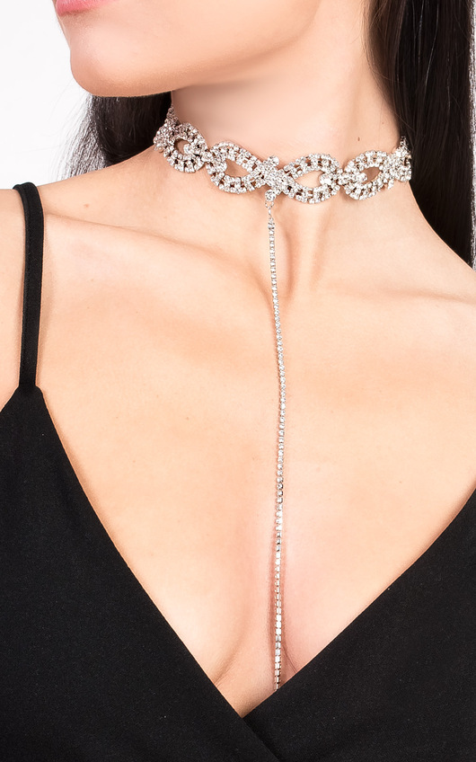 Katie Diamante Choker Necklace