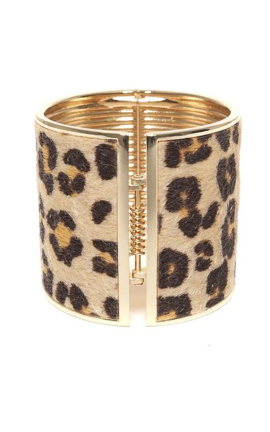 Graciana Beige Animal Print Cuff Bracelet