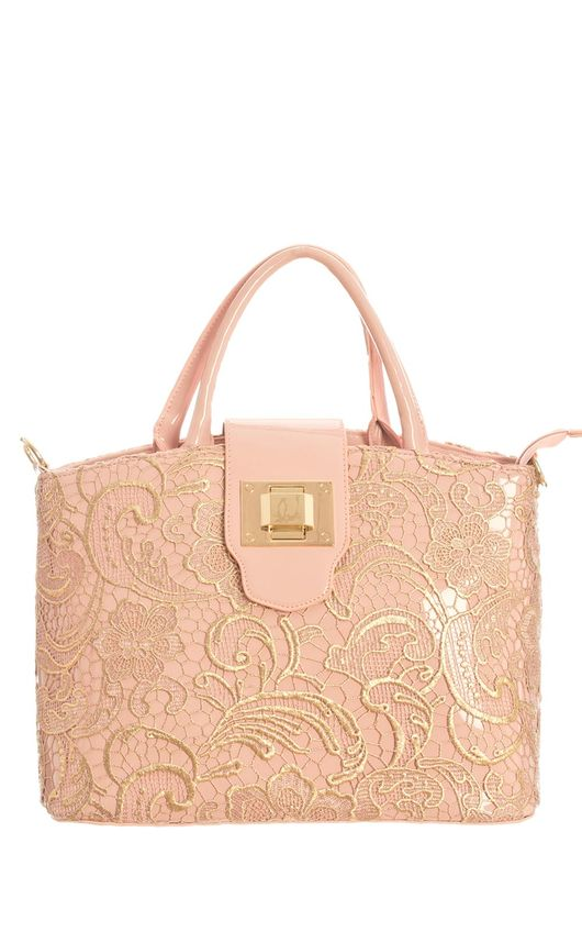 Amira Lace Buckle Handbag