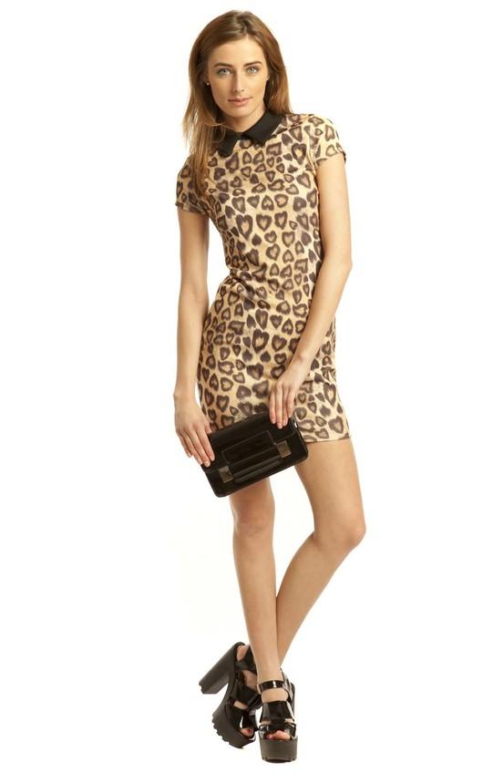 Rosa Leopard Tea Dress