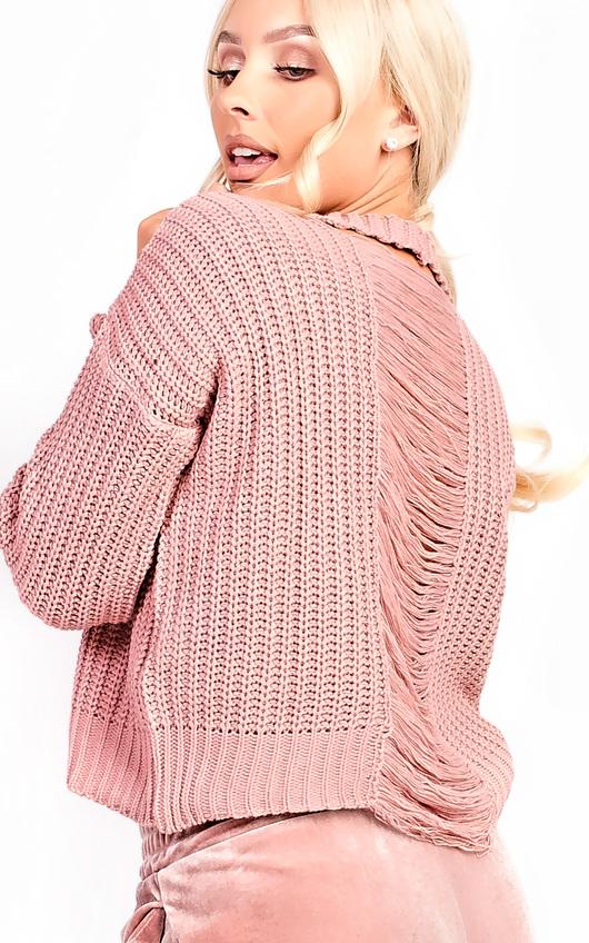 Sara Knitted Distressed Jumper