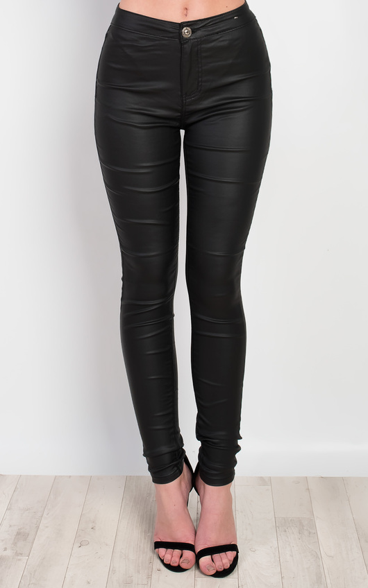 Elin Faux Leather Jeggings