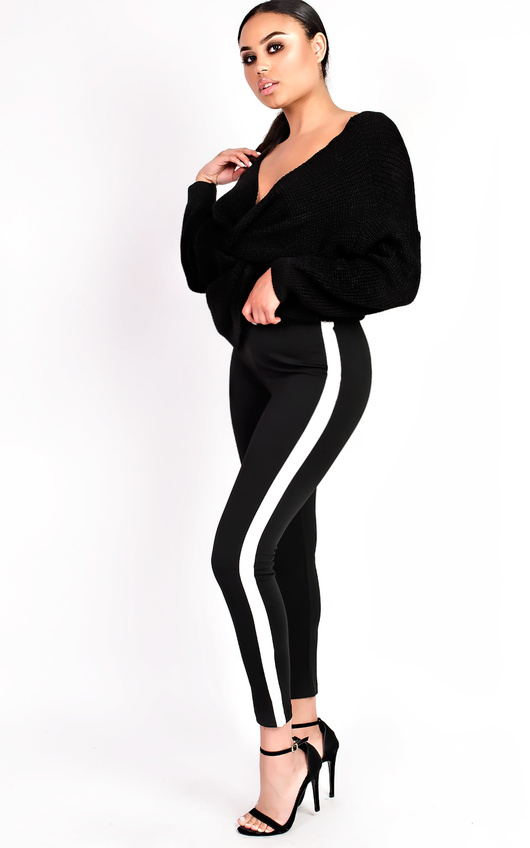 Rachelle Striped Slim Fit Leggings