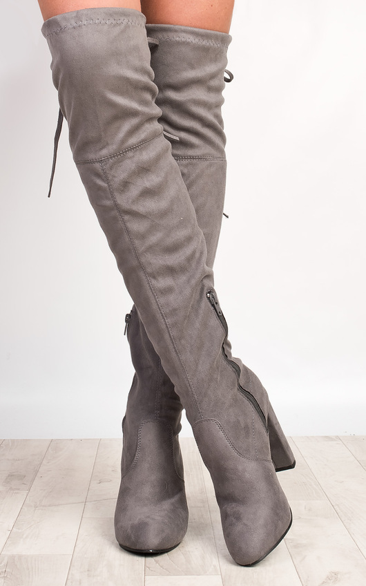 Annie Faux Suede Knee High Boots
