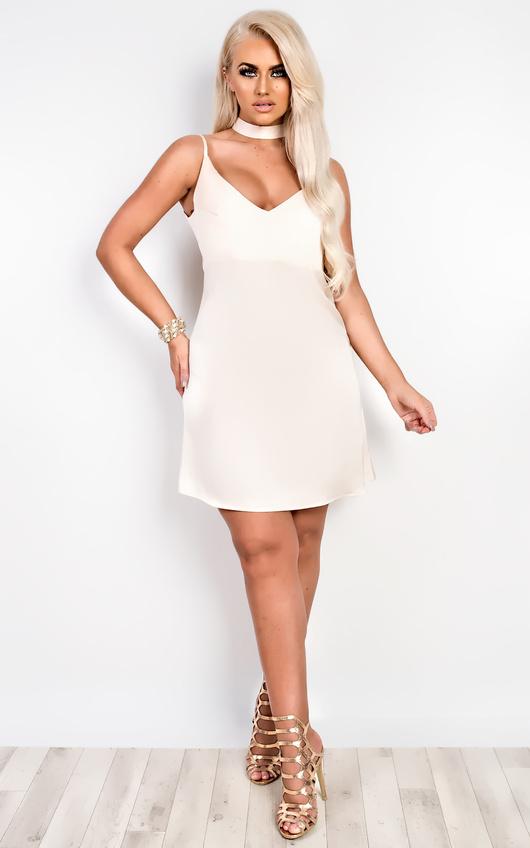 Tilly Choker Neck Slip Dress