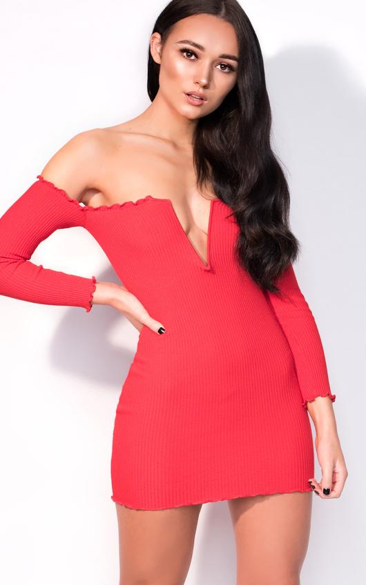 0f6d9c677929f Nicky Long Sleeve Bardot Luxe Bandage Dress Thumbnail