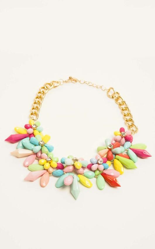 Nuala Multi-Coloured Daisy Necklace