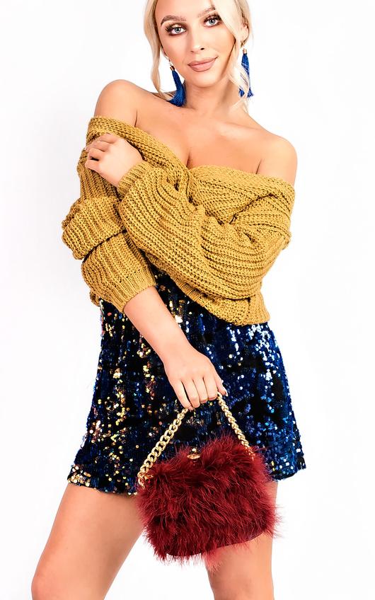 Manuella Reversible Sequin Skirt