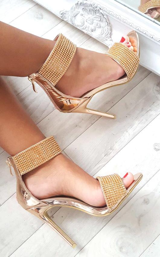 Donatella Diamante Strap Heels