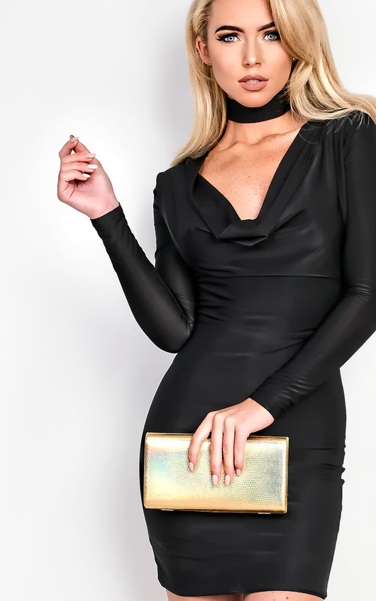 Libby Slinky Choker Neck  Bodycon Dress