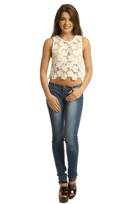 Pamela Crochet Crop Top