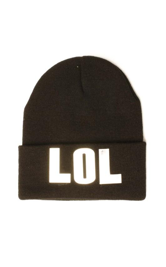 LOL Black Beanie Hat